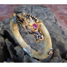 Gelang Kulit Naga gelang kulit dengan perak motif naga biru dimensi 26cm