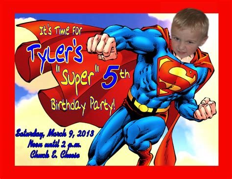 superman powers card template superman birthday invites cimvitation