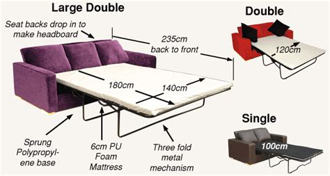 sofa bed measurements standard sofa cushion size uk memsaheb net