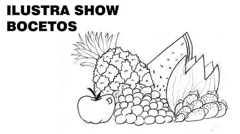 imagenes de frutas faciles para dibujar dibujos bodegon de frutas imagui