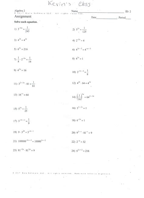 Factoring Worksheet Answers by Factoring Worksheet Algebra 1 Equivalent Fractions
