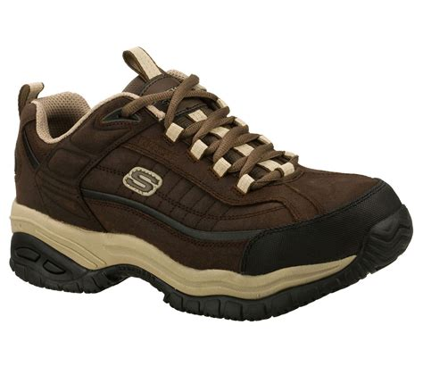 Skechers Work Shoes by Brown Taupe