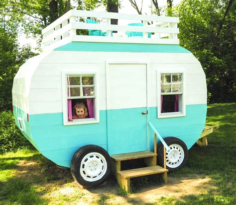 happy camper playhouse plan  kids pauls playhouses