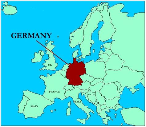 europe germany map maps of germany