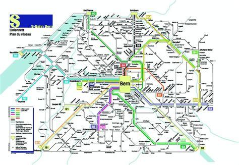 transport for map bern s bahn transport maps bern