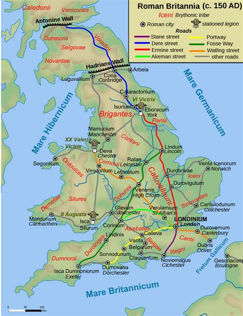 map of britain map of britain 150 ad illustration ancient history encyclopedia