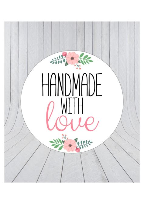 Handmade Stickers Labels - handmade with stickers handmade stickers handmade with