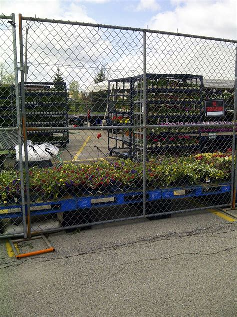 temporary panel fence chain link panels united rent  fence