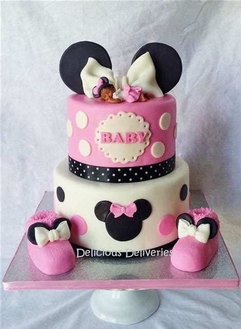 Minnie Mouse Baby Shower Cake by Baby Shower Cakes