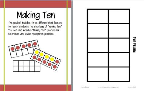 ten frame template bishop s blackboard an elementary education ten frames