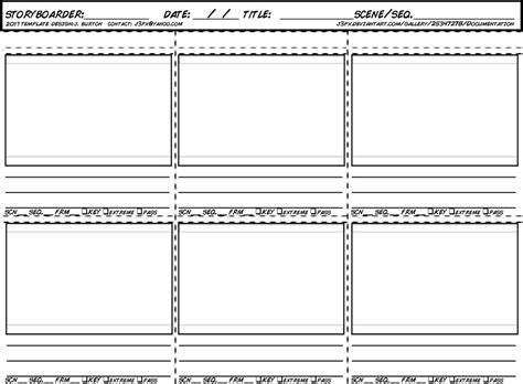 new storyboard template for 2017 by jeburton on deviantart