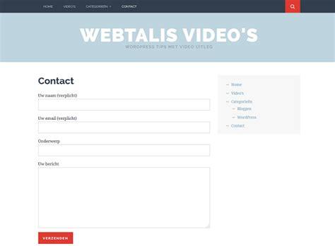 layout maken voor wordpress contactformulier voor wordpress maken handleiding
