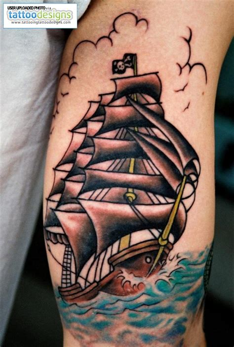 pirate ship tattoos pirate ship