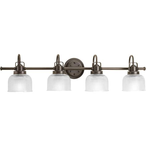 Bathroom Lighting Collections Progress Lighting Archie Collection 4 Light Venetian Bronze Bath Light P2997 74 The Home Depot