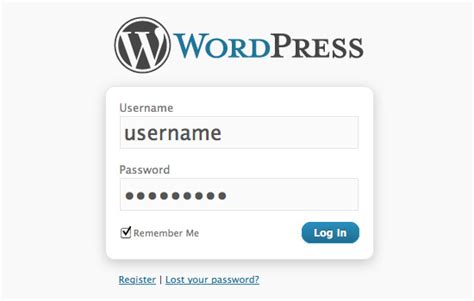 custom login register password code digging into wordpress