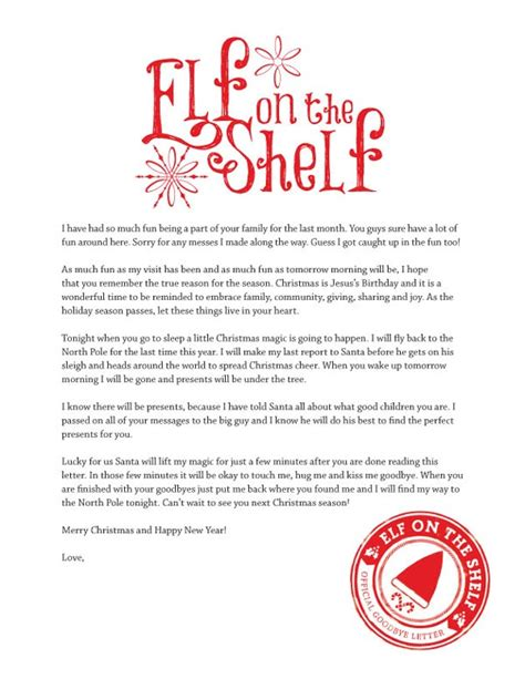 The Shelf Letter To Child on the shelf printables the crafting