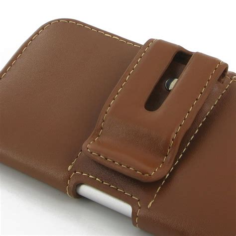 iphone 6 6s leather holster brown pdair sleeve pouch