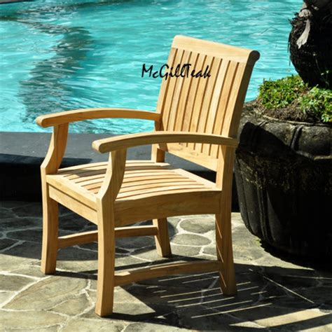 """""""Titan"""" Teak Outdoor Chair   Patio Dining Chair"""