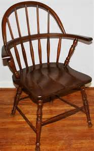 Mid Century Arm Chair Early American Antique Wooden Sack Back Windsor Armchair