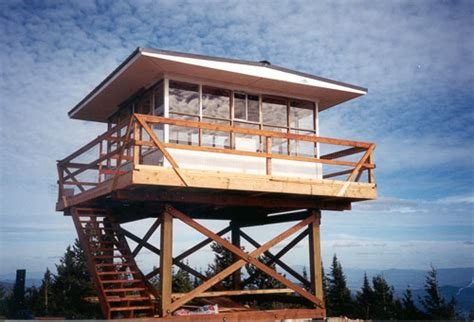 fire lookout tower plans fire lookout home plans home plan