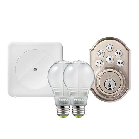 wink hub 2 lights wink smart home security kit with wink hub kwikset