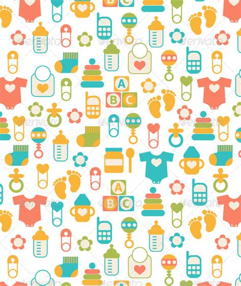 seamless baby pattern graphicriver