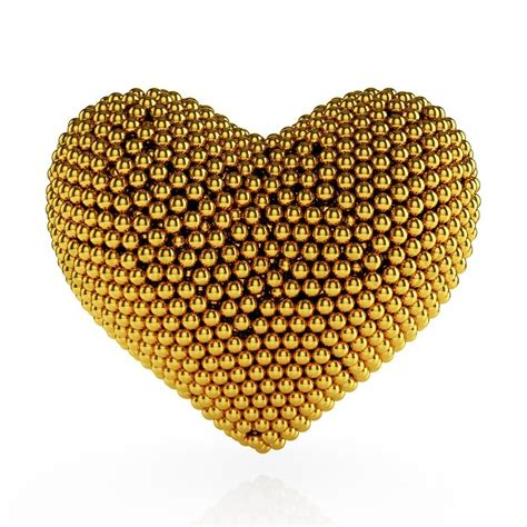 Valentine Day Home Decor Golden Heart Stock Photo Colourbox