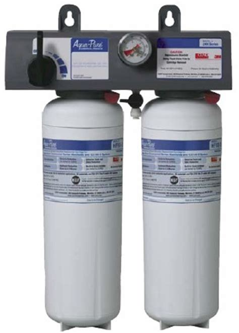 3m cuno applications filtration solutions 56245 03 3m cuno aqua ice260 s cfs dual water filtration system w gague 5624503