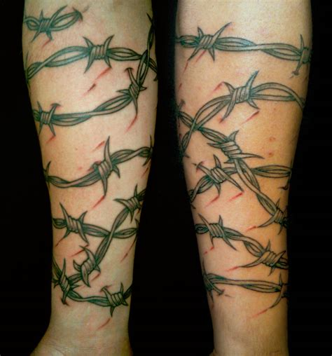barbed wire cross tattoo barbed wire tatuagem de arame farpado tattoos my