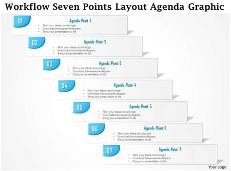 business plan workflow  points layout agenda graphic powerpoint  template