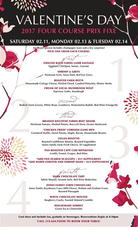 valentines day menu valentine s day 2017 menu the tailor and the cook