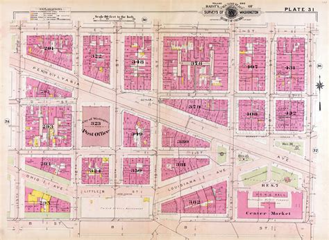 washington dc city layout map file 1909 map of downtown washington d c jpg
