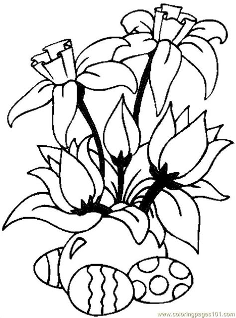 free printable easter flowers easter flower coloring pages az coloring pages