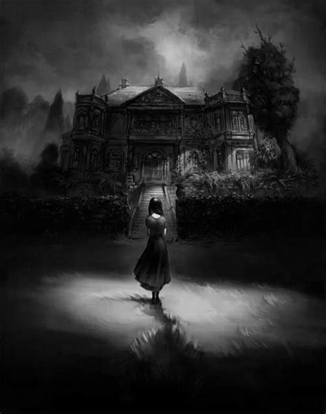 Alone Haunted House by Scary Creepy Child Horror Alone Black Mansion