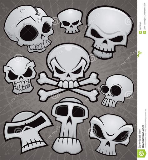 cartoon skull collection stock vector image of pirate