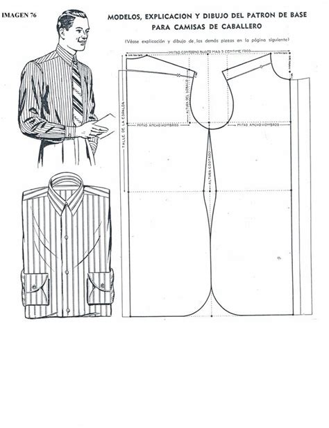 pattern drafting meaning molde camisa patrones caballero pinterest