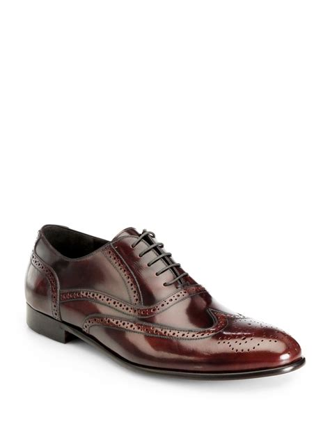 wingtip shoes gordon pacific wingtip oxford dress shoes burgundy in