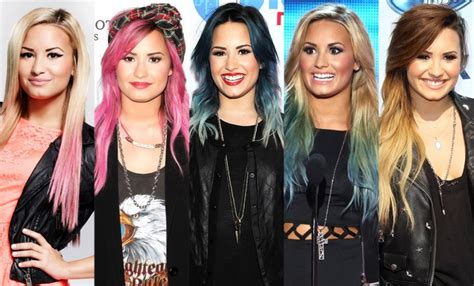 demi hair color demi lovato releases colorful hair extension line check