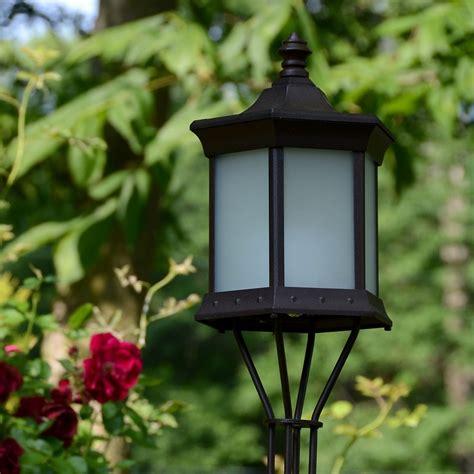 starlite patio solar lantern frosted glass garden torch