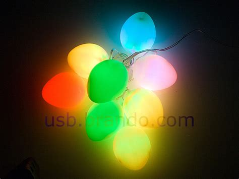 usb easter egg decor light 8 led lights