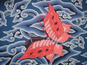 Jaket Motif Awan asal batik mega mendung medogh