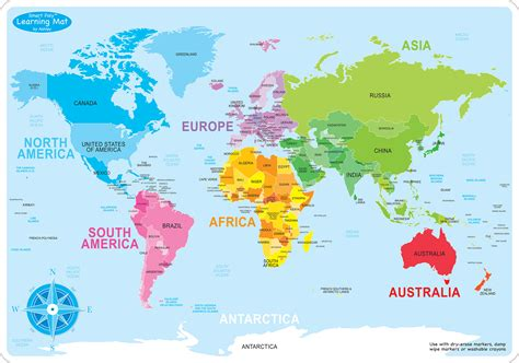 teachertoolsinccom world map basic smart poly learning mat