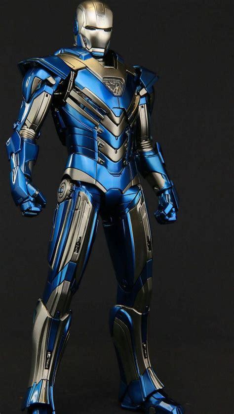 transformer version iron man armor mark blue