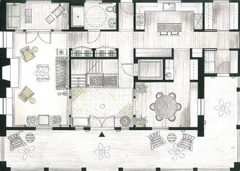 floor plan interior design modern house