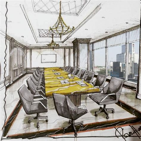 amazing architectural interior design sketch arch student