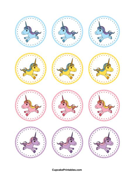 Printable Unicorn Cupcake Toppers | printable unicorn cupcake toppers