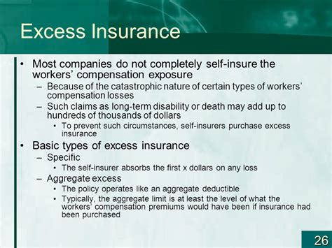 Insurance Excess Letter Workers Compensation And Alternative Risk Financing Chapter Ppt
