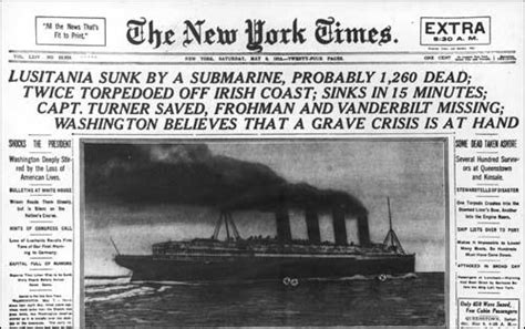 u boat primary source sinking of the lusitania