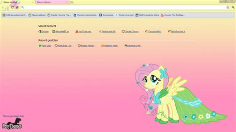 themes google chrome kawaii fluttershy google chrome theme by julien12826 on deviantart