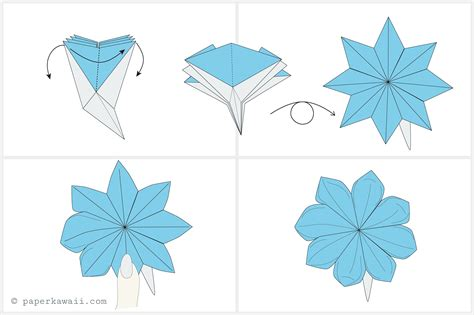 Origami Flower How To - how to make an easy flower out of paper gallery flower